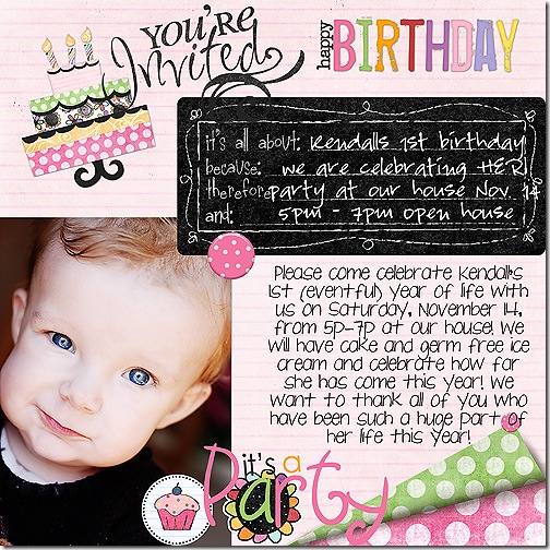 kendall party invite